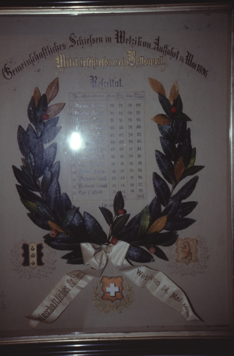 Militärschiessv. Bettswil, Kranz