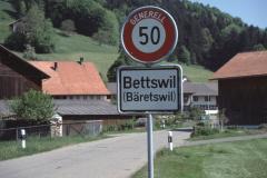 Ausserortstafel 'Bettswil' (aus Ritg. Maiwinkel)