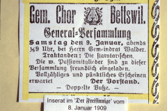 Inserat GV Gem.Chor Bettswil