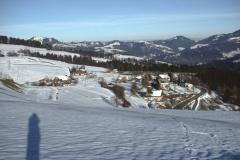 Blick v. Waldsbergh. auf Rest.,Berg' - Ghöch