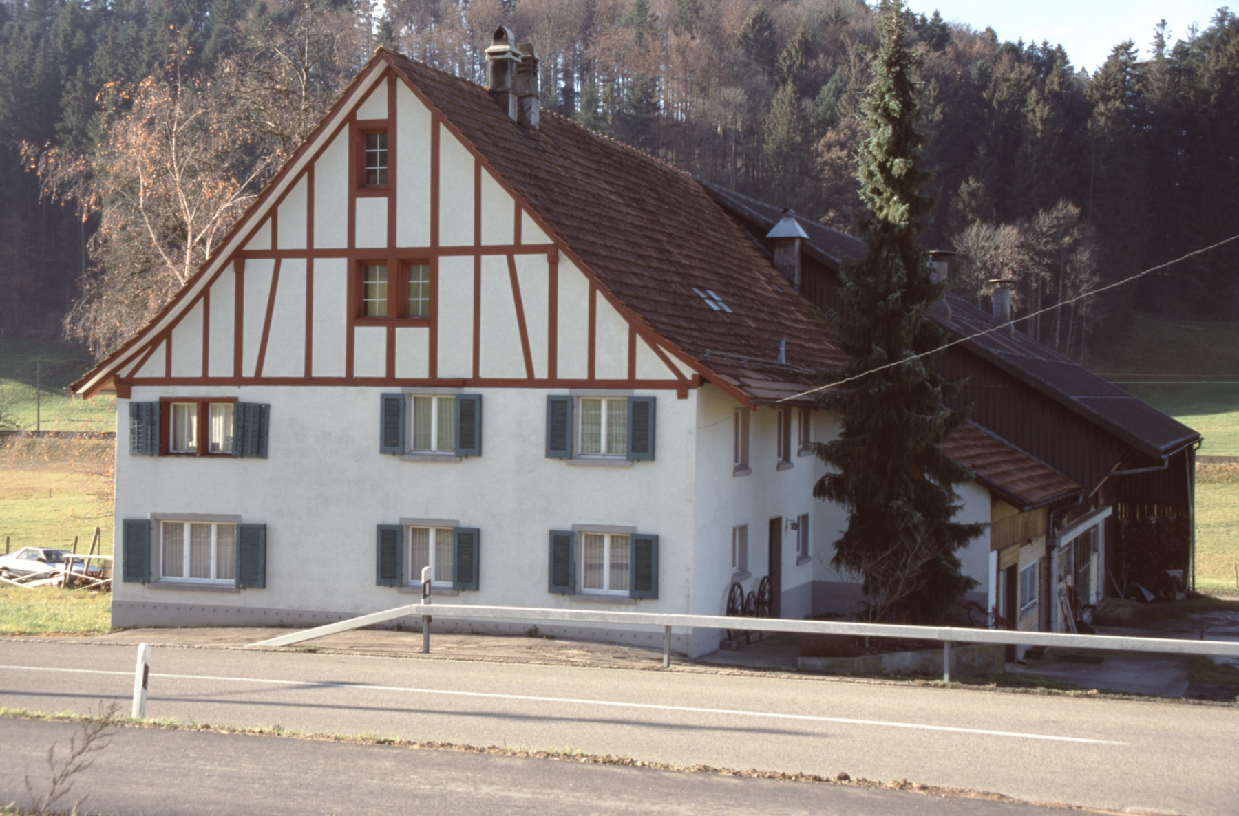 Haus ehem Gredig mit Bauernfamilie