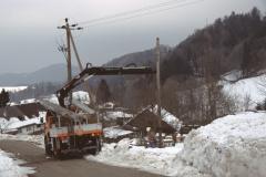 Entfernung der EKZ Strommasten in Hinterburg