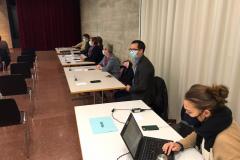 GdeVersammlung, vrnl Xenia Klaus (vom ZO), Marco Korrodi, Lisa Dietrich, Barbara Schoch