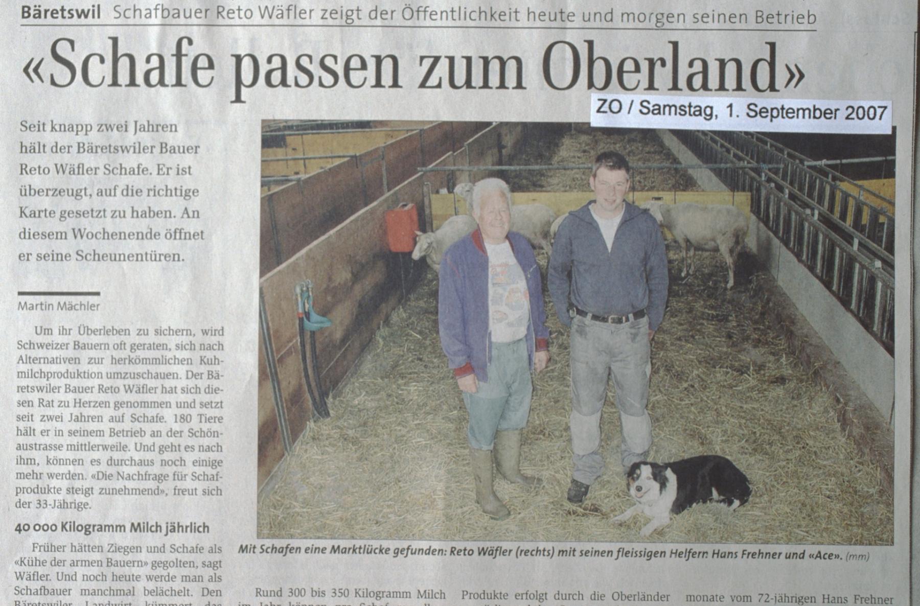 ZO. ,Schafe passen zum Oberland'