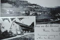 Postkarte Neuthal, Hof, Rest. Greifenberg