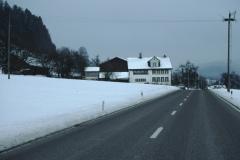 Hofschür, Baumastr im Winter