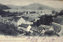 Postkarte Fabrikensemble - Hibg., Stollen