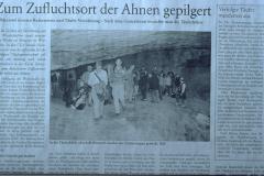 Täuferhöhle - Zeitungsbericht ZO