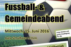 Plakat zur Fussball-GV vom 15.06.2015
