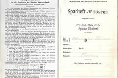 Sparheft 1943-1972 Männerchor