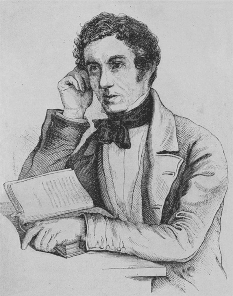 Stiftzeichnung von Jakob Stutz beim Lesen seines Tagebuchs.