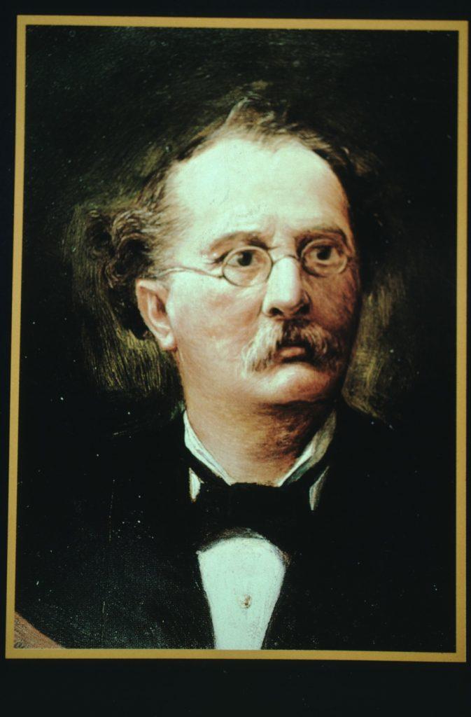 Portrait von Adolf Guyer-Zeller (1839-1899) aus Bäretswil, dem Unternehmer im Industrieensemble und Eisenbahnkönig.