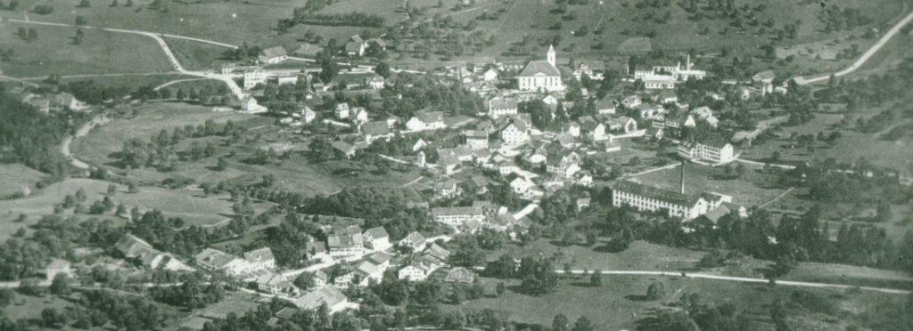 Luftaufnahme von Bäretswil 1922