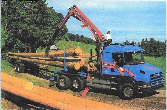 Langholzzug SCANIA, Gesamtgewicht 40 t Baujahr 2000, Leistung 530 PS