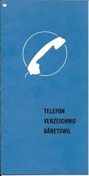 Telefonverzeichnis von 1955 von Bäretswil.