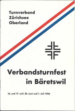 """Deckblatt der Broschüre """"Verbandsturnfest in Bäretswil""""."""