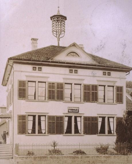 Alte Post 1915 mit «Christbaum» für Telegraphie