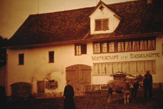 Restaurant Ziegelhütte, später Alpenblick, von Ida Kunz-Bitschnau in Speiserestaurant umgebaut.