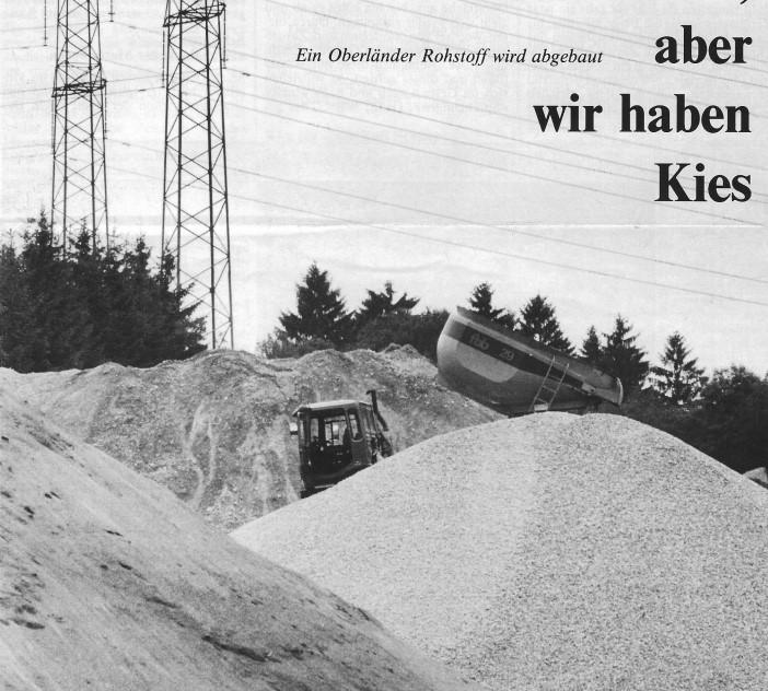 Kieswerk der FBB in Bäretswil