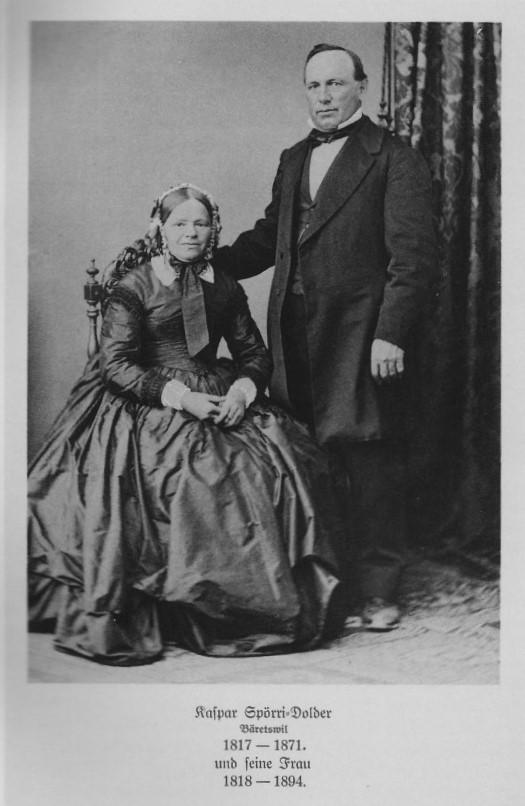 Portrait von Caspar Spörri-Dolder mit seiner Frau Katharina aus der Familienchronik Spörri.