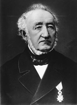Portrait von Kaspar Honegger (1804–1883) Webmaschinen Joweid Rüti.