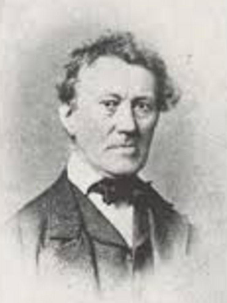 Bild von Jakob Stutz als betagter Dichter in Bettswil.